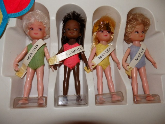 The dolls from the Miss World board game by Denys Fisher.