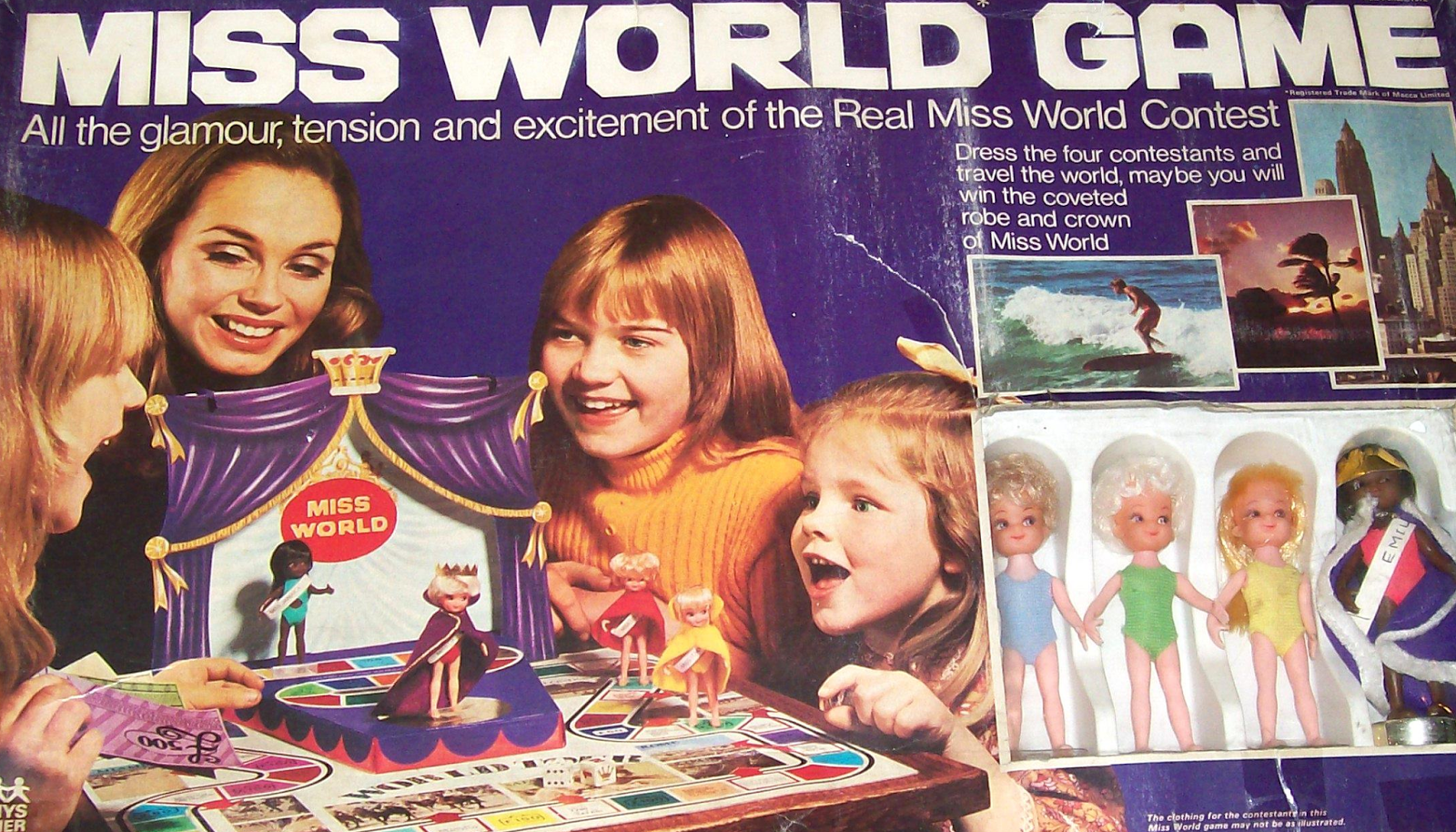 Miss World Game board game by Denys Fisher.