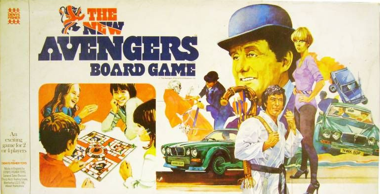 The New Avengers board game by Denys Fisher.