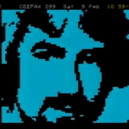 Noel Edmonds, as seen by Ceefax.