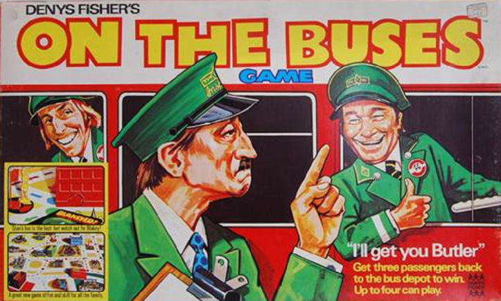 On The Buses board game by Denys Fisher.