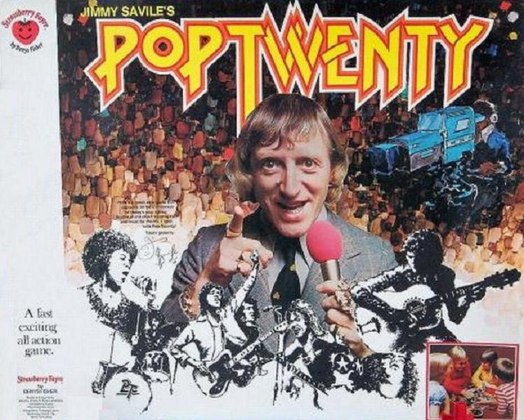 Jimmy Savile's Pop Twenty board game by Denys Fisher.