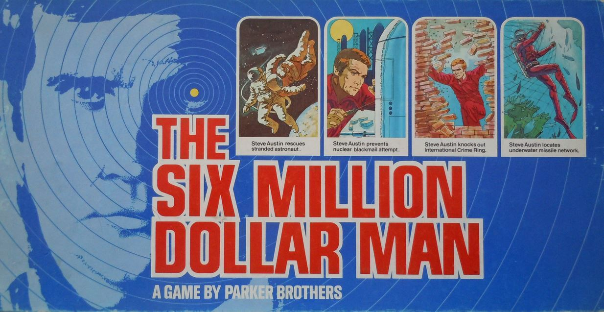 The Six Million Dollar Man board game by Denys Fisher.
