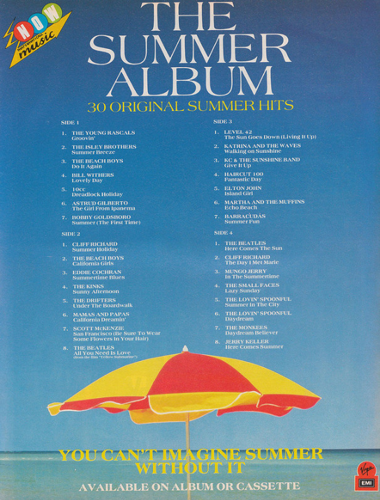 Advert for Now - The Summer Album (Virgin/EMI, 1986) from Smash Hits (1986)