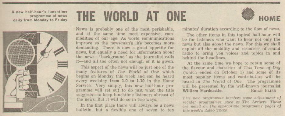 BBC Home Service preview, Radio Times 1965.
