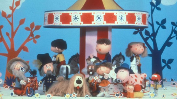Paul, Basil and Rosalie from The Magic Roundabout.