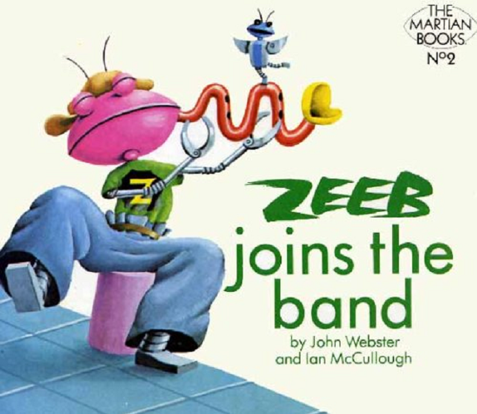Zeeb Joins The Band by John Webster and Ian McCullough (Golden Acorn Books, 1979), as discussed by Tim Worthington and Paul Abbott in Looks Unfamiliar.