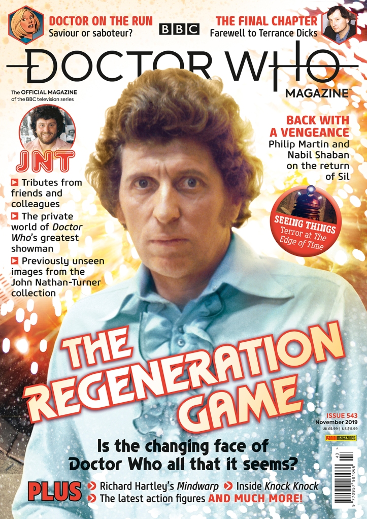 Doctor Who Magazine Issue 543, including an interview with The Trial Of A Time Lord musician Richard Hartley by Tim Worthington.