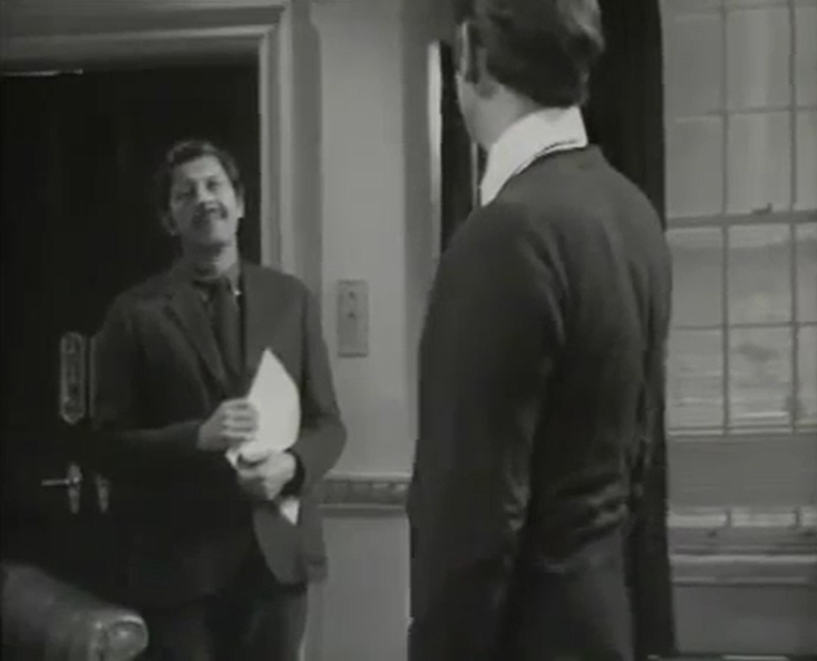 Edwin Richfield and Gerald Harper in Hadleigh - Patron Of The Arts (Yorkshire/ITV, 1969).