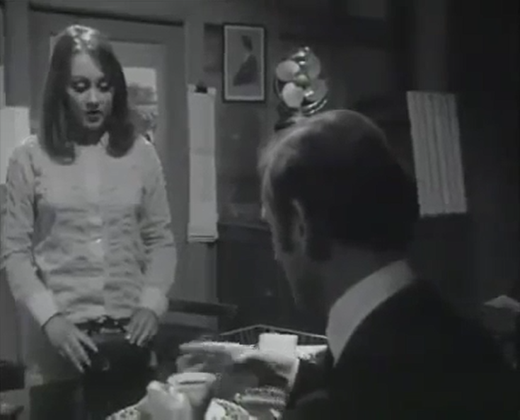 Paula Wilcox and Gerald Harper in Hadleigh - Patron Of The Arts (Yorkshire/ITV, 1969)