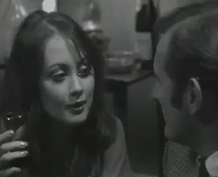 Paula Wilcox and Gerald Harper in Hadleigh - Patron Of The Arts (Yorkshire/ITV, 1969).