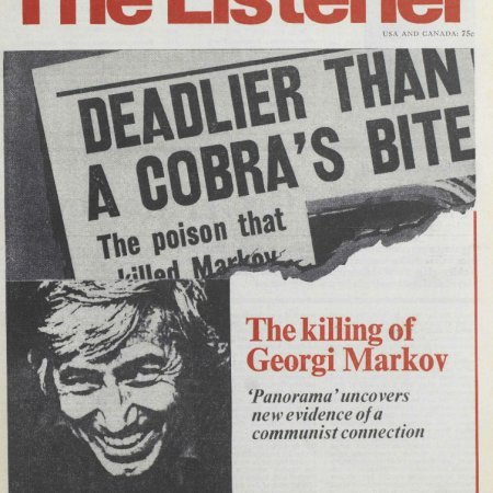 The Listener covers the Georgi Markov story, 1979.