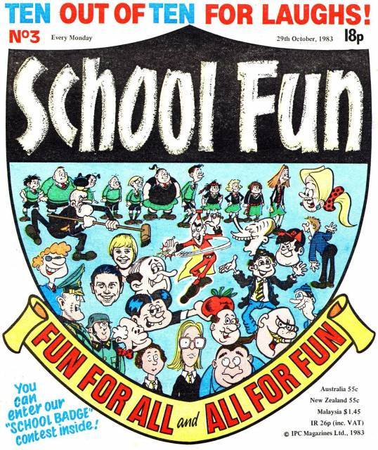 School Fun comic (Fleetway, 1983-84), as discussed by Tim Worthington and comedian Pete Prodge in Looks Unfamiliar.