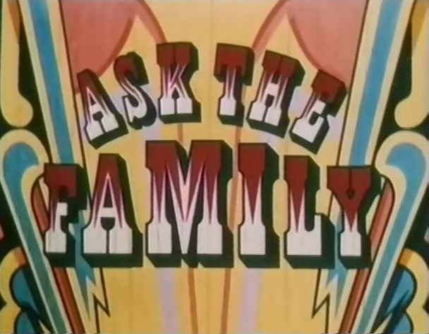 Opening titles from Ask The Family (BBC1, 1967-84).
