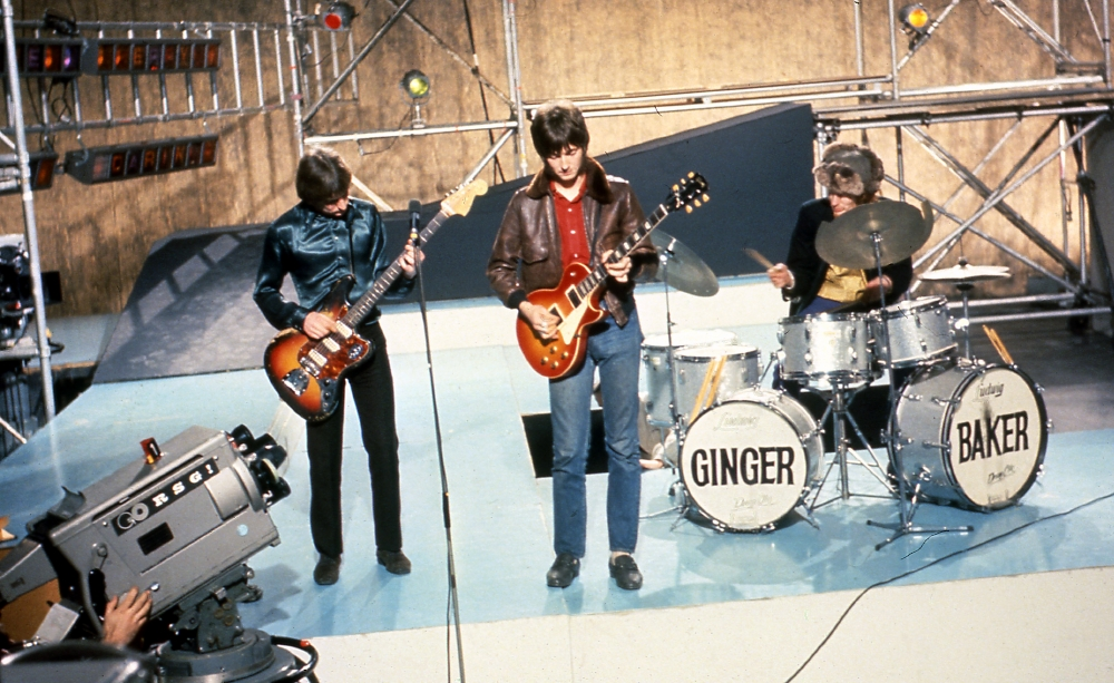 Cream performing at the BBC (1966).