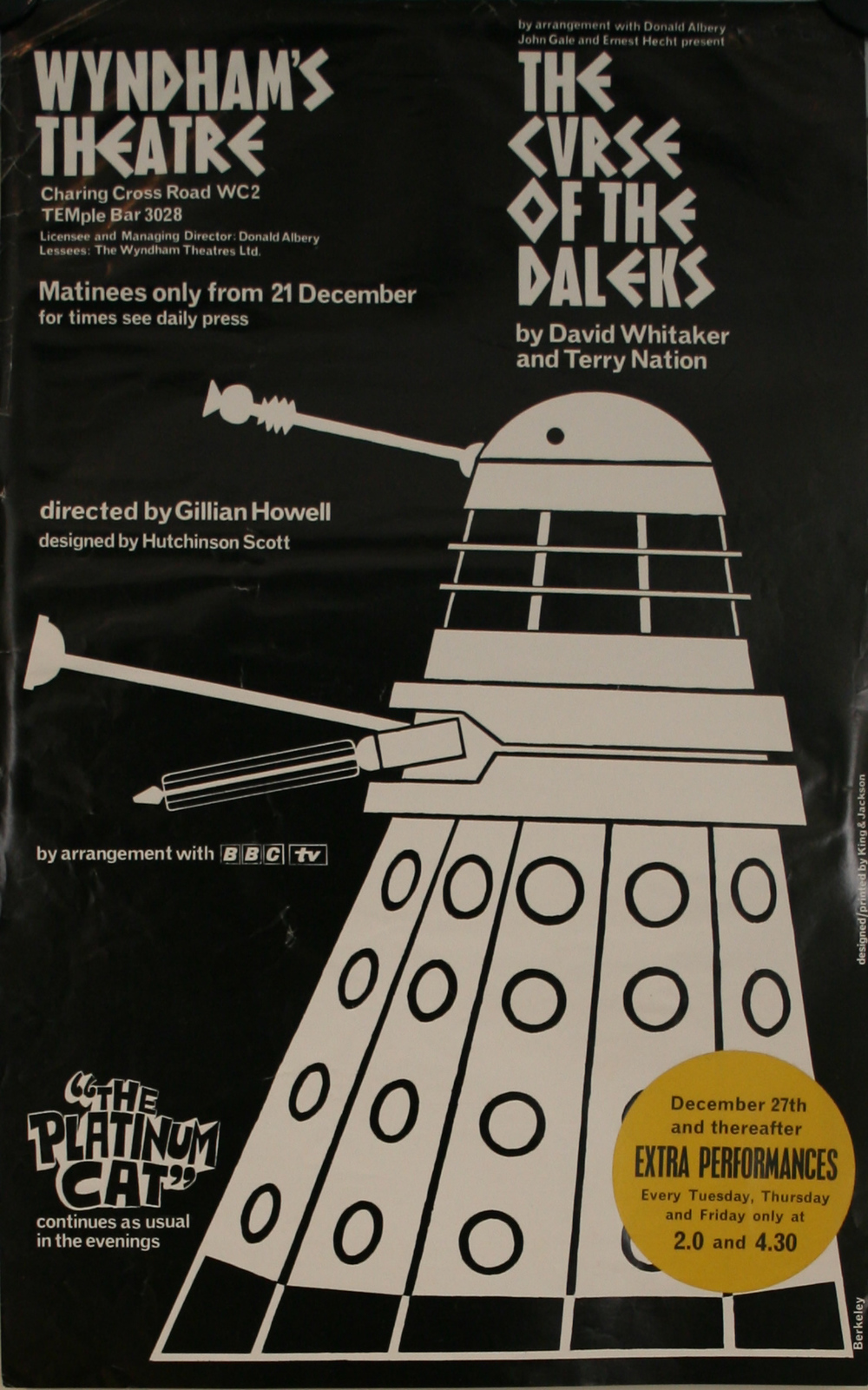 Curse Of The Daleks promo poster (1965).
