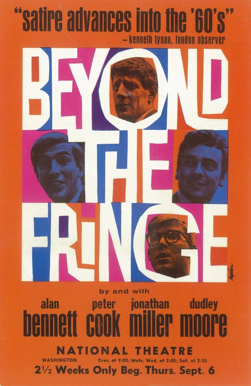 Beyond The Fringe promotional poster (1961).
