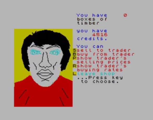 Star Trader (Bug-Byte, 1984).