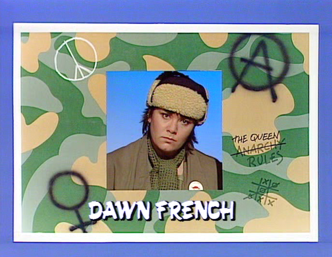 Dawn French in Girls On Top (ITV/Central, 1985-86).