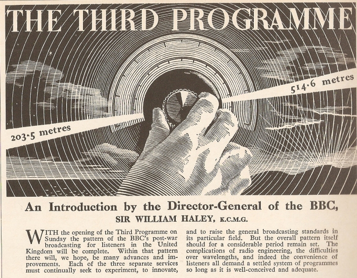 BBC Third Programme - Radio Times launch feature (1946).