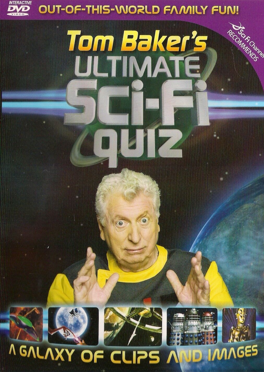 Tom Baker's Ultimate Sci-Fi Quiz DVD Game (Liberation, 2006) - as played by Tim Worthington, Vikki Gregorich, Jeff Lewis and Garreth F. Hirons in The Best Of Looks Unfamiliar.