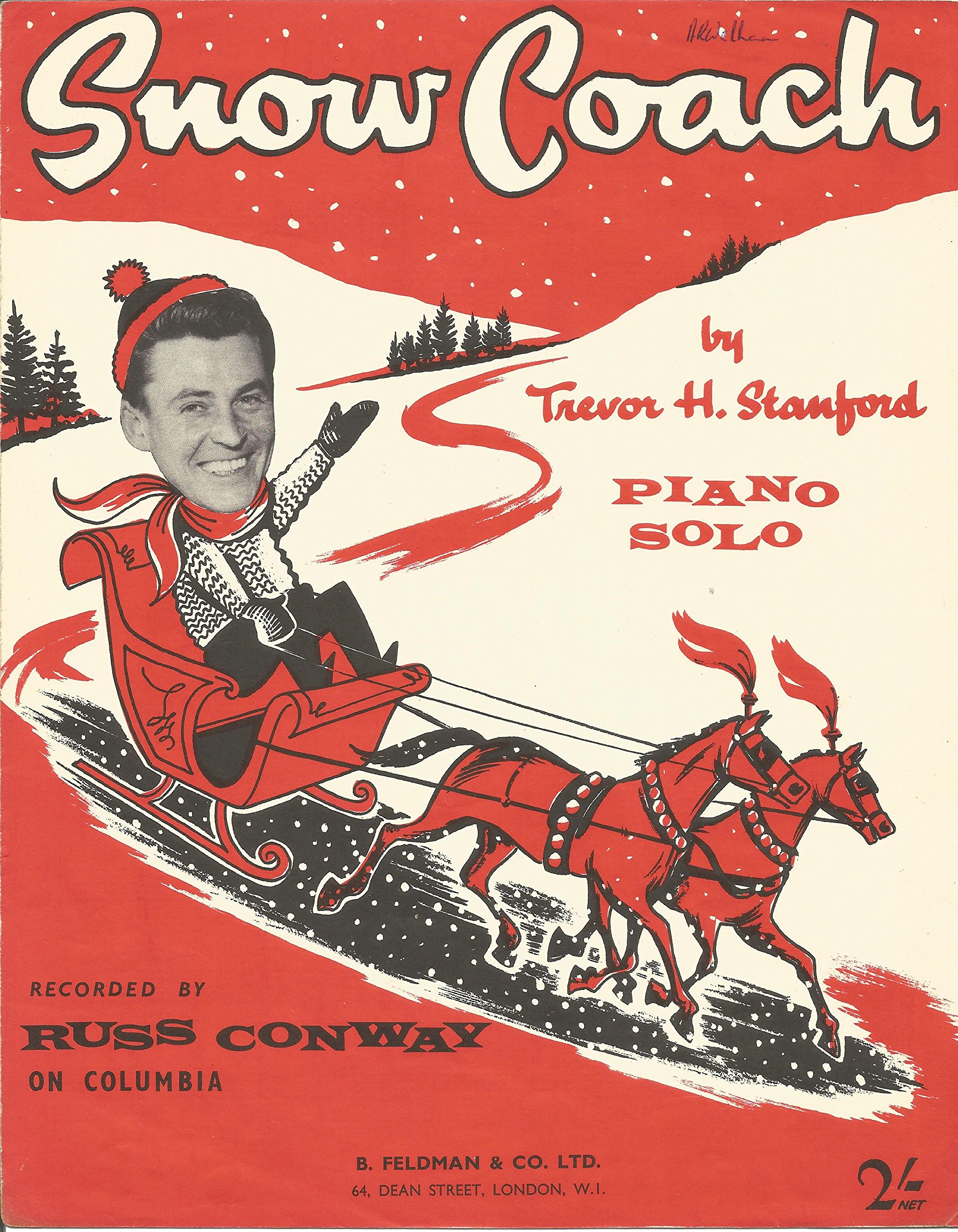 Sheet Music for Snow Coach by Russ Conway (1959).