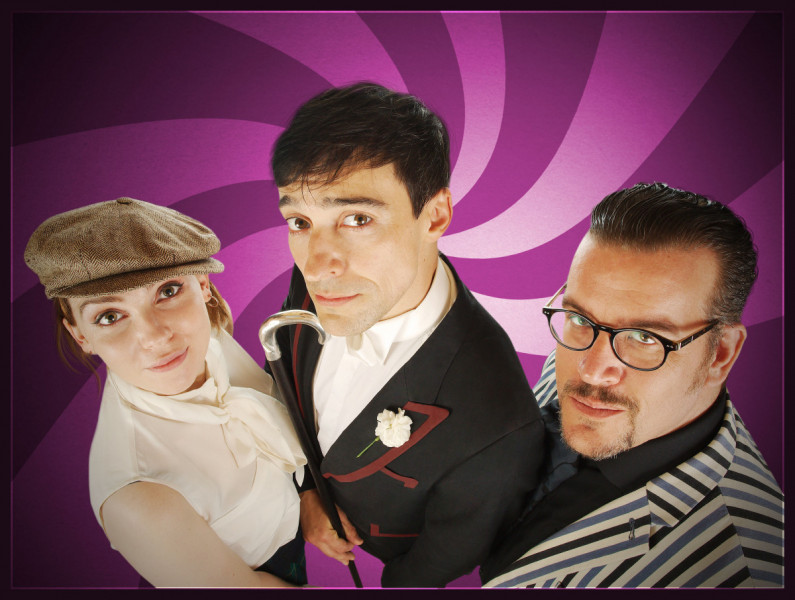 Milly Thomas, Blake Ritson and Guy Adams in Adam Adamant Lives! - A Vintage Year For Scoundrels (Big Finish, 2020).