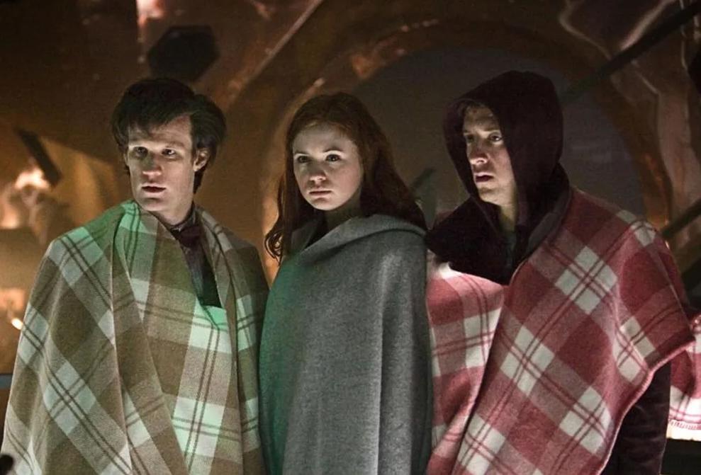 Matt Smith, Karen Gillan and Arthur Darvill in Doctor Who - Amy's Choice (BBC1, 2010).