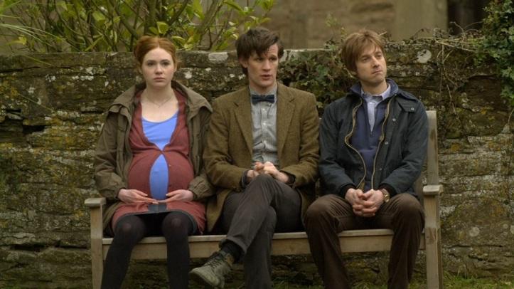 Karen Gillan, Matt Smith and Arthur Darvill in Doctor Who - Amy's Choice (BBC1, 2010).