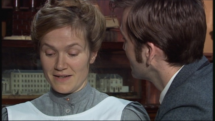 Jessica Hynes as Joan Redfern and David Tennant as The Doctor in Doctor Who - Human Nature/The family Of Blood (BBC1, 2007).