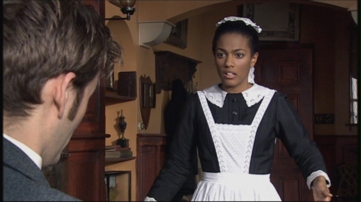 David Tennant as The Doctor and Freema Agyeman as Martha Jones in Doctor Who - Human Nature/The family Of Blood (BBC1, 2007).