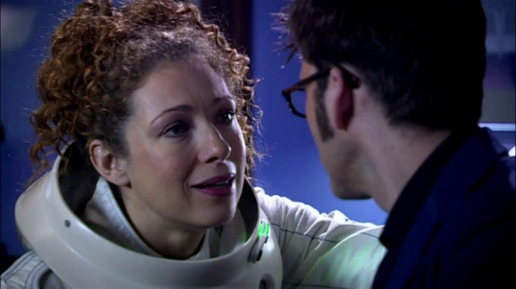 Alex Kingston and David Tennant in Doctor Who - Silence In The Library/Forest Of The Dead (BBC1, 2008).