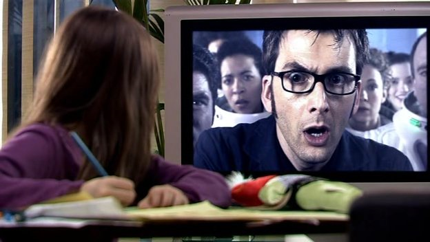 David Tennant in Doctor Who - Silence In The Library/Forest Of The Dead (BBC1, 2008).
