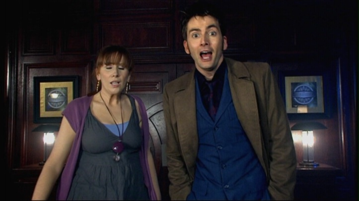 Catherine Tate and David Tennant in Doctor Who - Silence In The Library/Forest Of The Dead (BBC1, 2008).