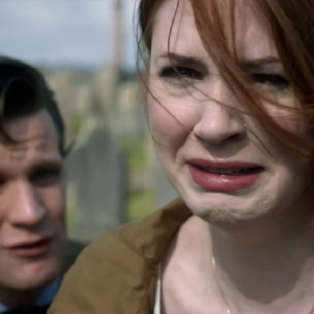Matt Smith and Karen Gillan in Doctor Who.