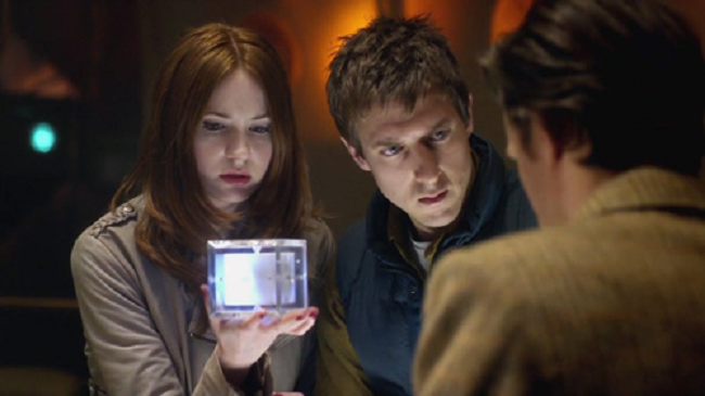 Karen Gillan, Arthur Darvill and Matt Smith in Doctor Who - The Doctor's Wife (BBC1, 2011).