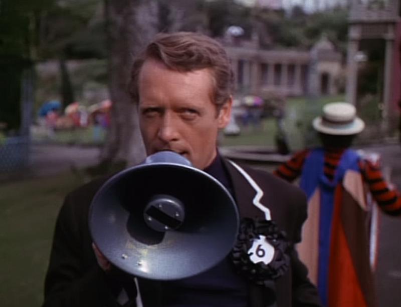 Patrick McGoohan in The Prisoner - Free For All (ITV, 1967).