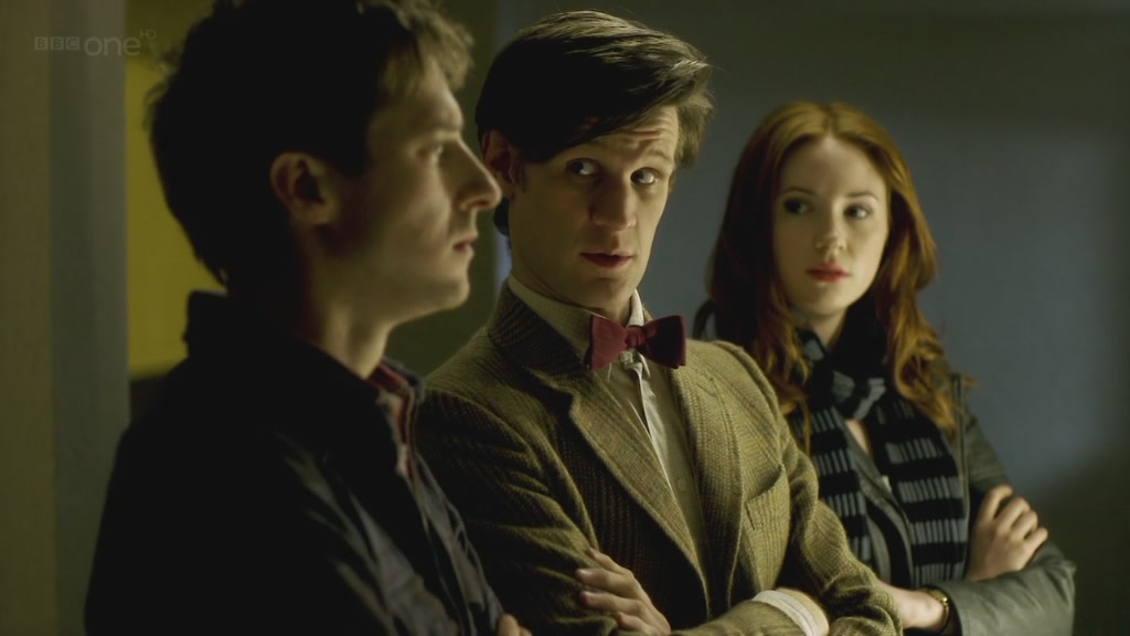 Arthur Darvill, Matt Smith and Karen Gillan in Doctor Who - Night Terrors (BBC1, 2011).