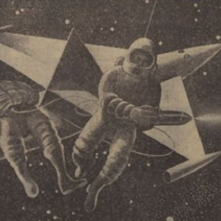 Radio Times illustration for Orbiter X (BBC Light Programme, 1959).