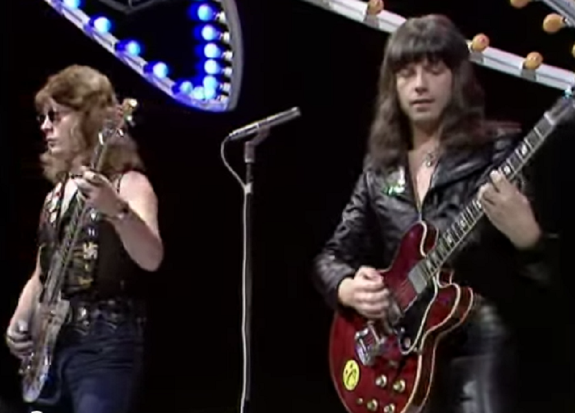 The Sweet performing Action on Top Of The Pops (BBC1, 1975).