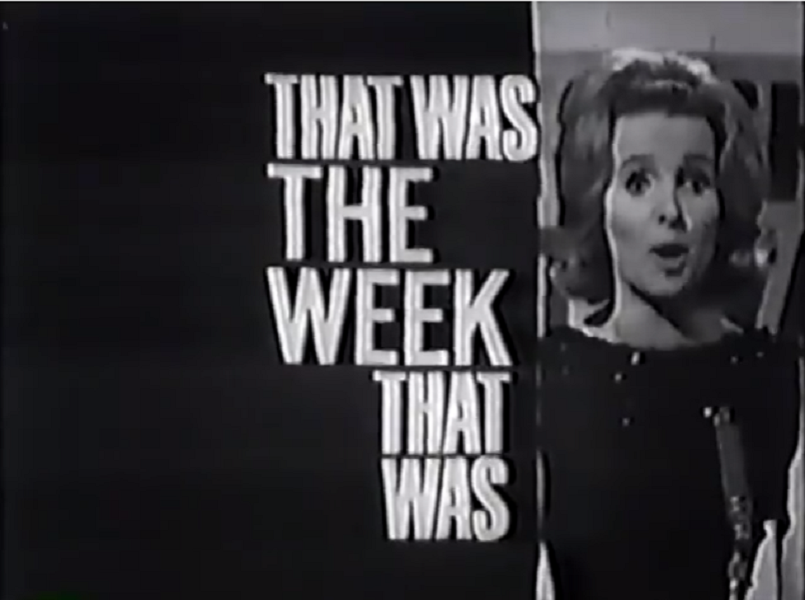 Millicent Martin in That Was The Week That Was (BBC, 1962-3).