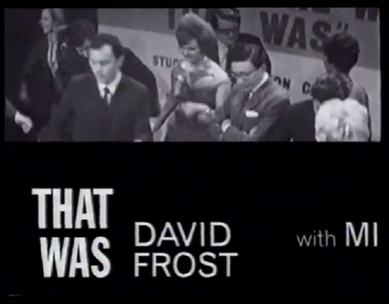 Closing Titles of That Was The Week That Was (BBC, 1962-3).