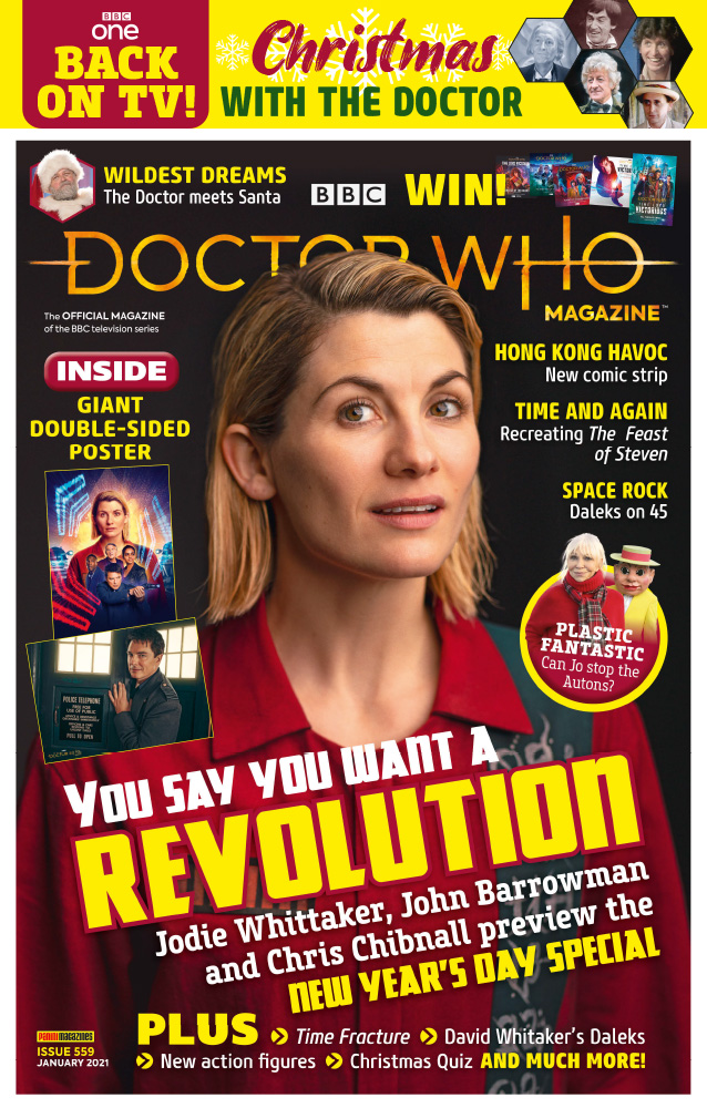 Doctor Who Magazine Issue 559 - including a feature on I'm Gonna Spend My Christmas With A Dalek by The Go-Go's by Tim Worthington.