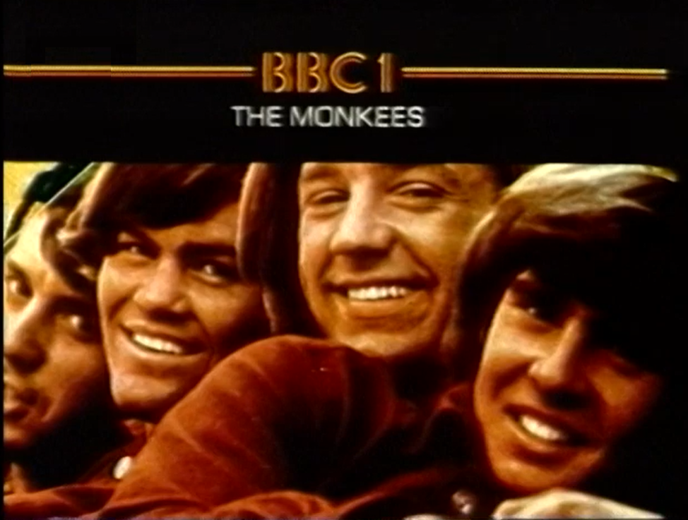 BBC continuity slide for The Monkees, circa 1980.