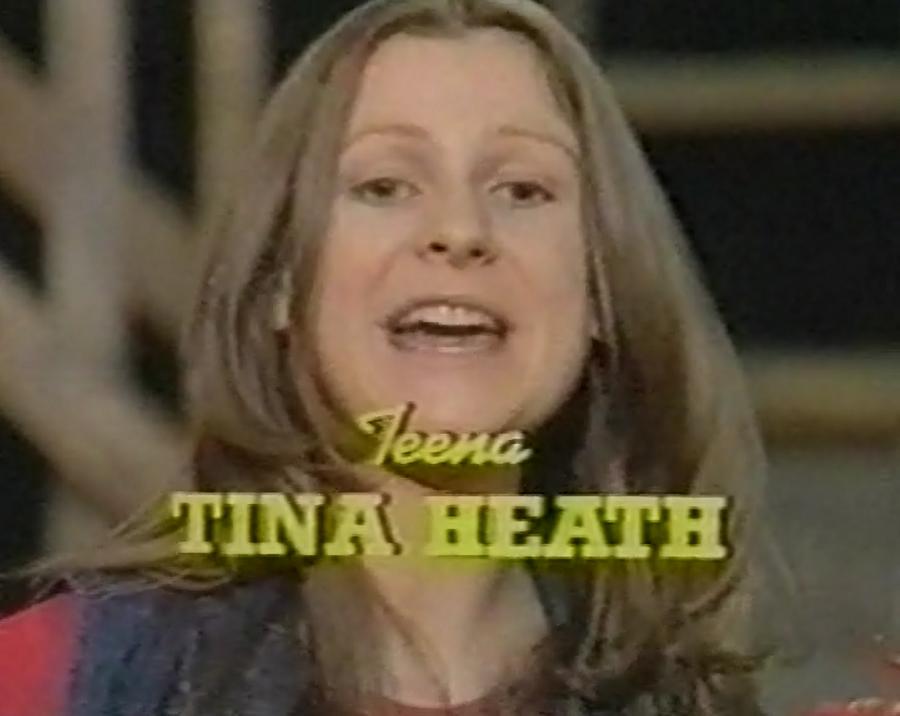 Tina Heath in The Sunday Gang (BBC1, 1976-81).