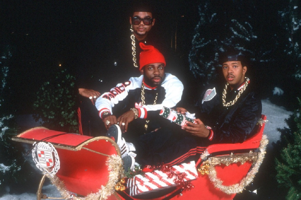 Christmas In Hollis by Run DMC (A&M, 1987) - listen to Stephen O'Brien and Tim Worthington chatting about it and other forgotten eighties Christmas Singles in Looks Unfamiliar.