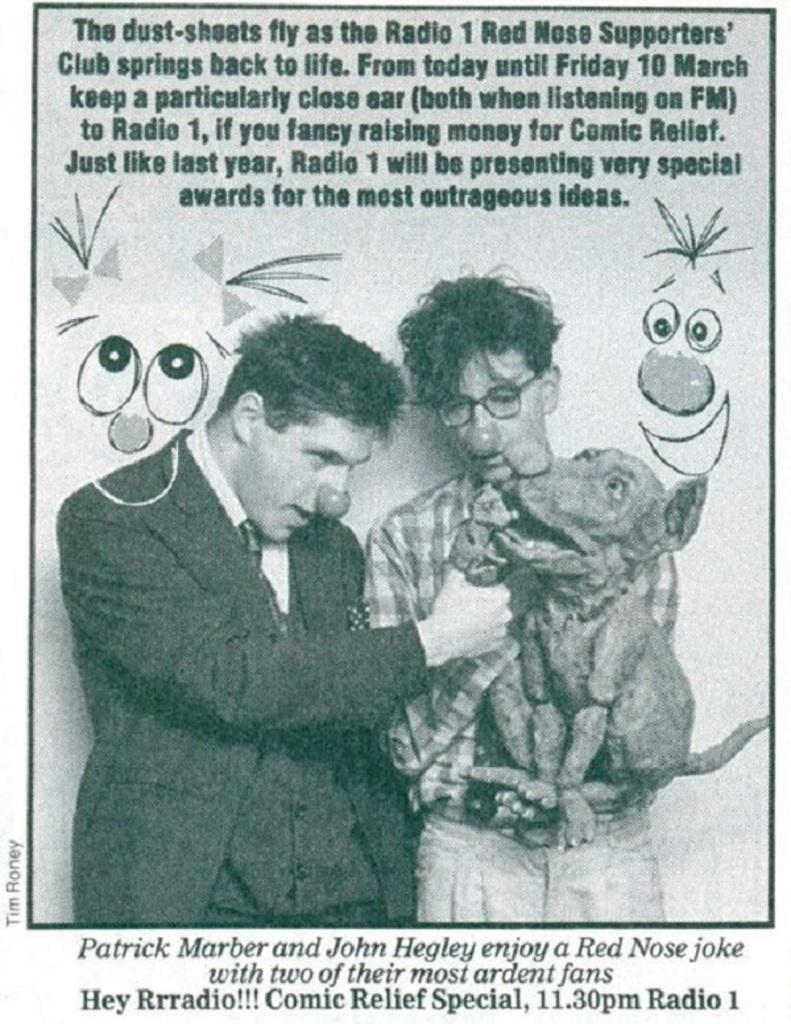 Radio Times listing for Hey Rrradio!!! (BBC Radio 1, 1988-89) .