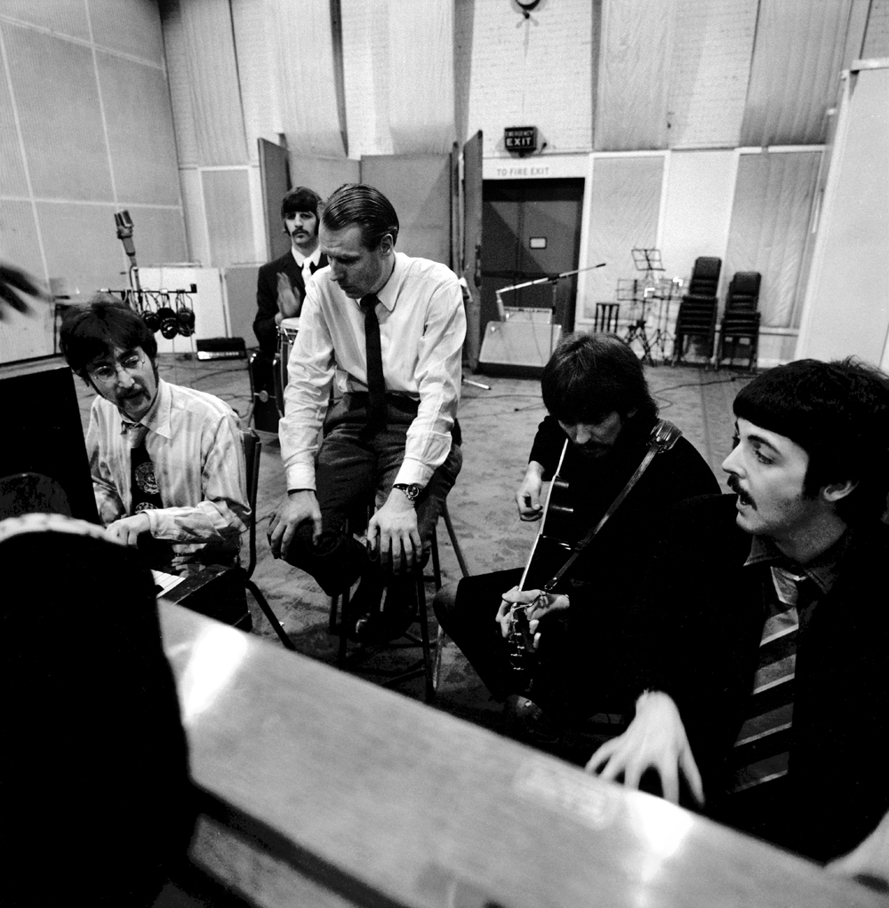 The Beatles and George Martin in Abbey Road around the time of Carnival Of Light.