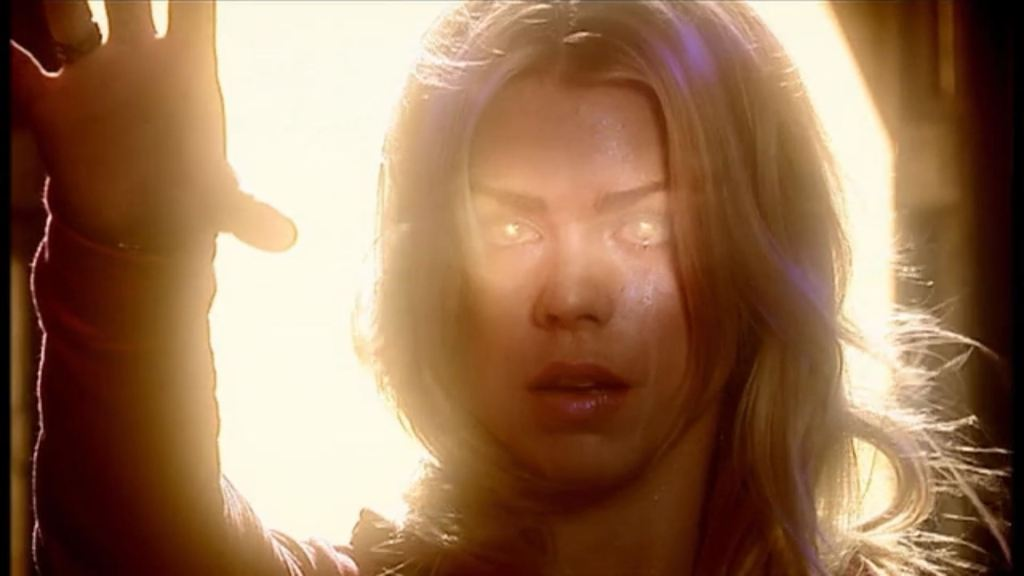 Billie Piper as Rose Tyler in Doctor Who - The Parting Of The Ways (BBC1, 2005).