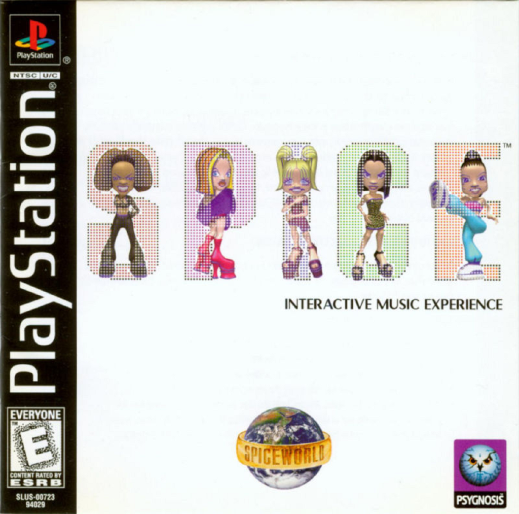 The Spice Girls: Spice World for the PlayStation (Sony, 1998) - listen to Jim Sangster talking to Tim Worthington about it in Looks Unfamiliar.